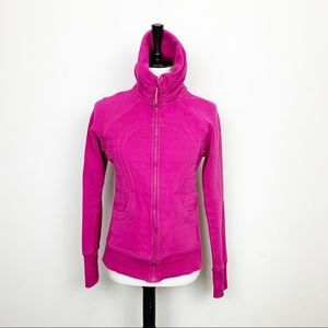 Lululemon Pink Scuba ZIP Up Sweatshirt Sz 6